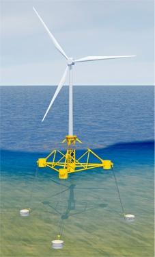 technologies innovantes - éolien flottant
