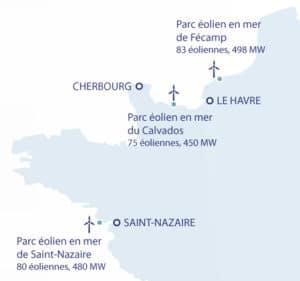 éolien en mer - localisation